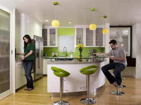 Пусть соседи зеленеют от зависти при виде вашей яркой зеленой кухни