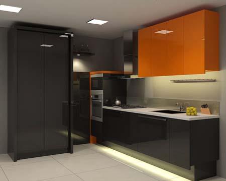 2 Tủ bếp đơn giản