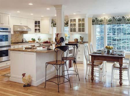 2 Tủ bếp trắng hiện đại