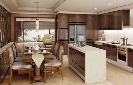 2 Mẫu tủ bếp hiện đại