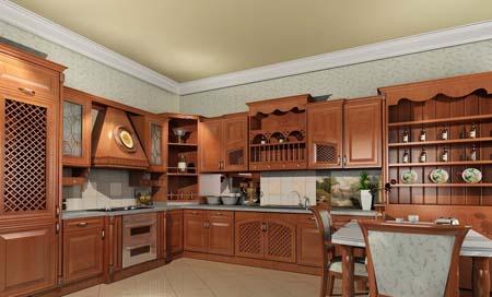 9 Tủ bếp cổ điển