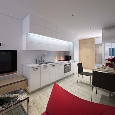 3 Tủ bếp trắng