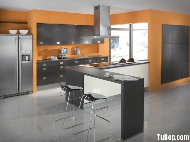Tủ bếp Acrylic có đảo TVT0305