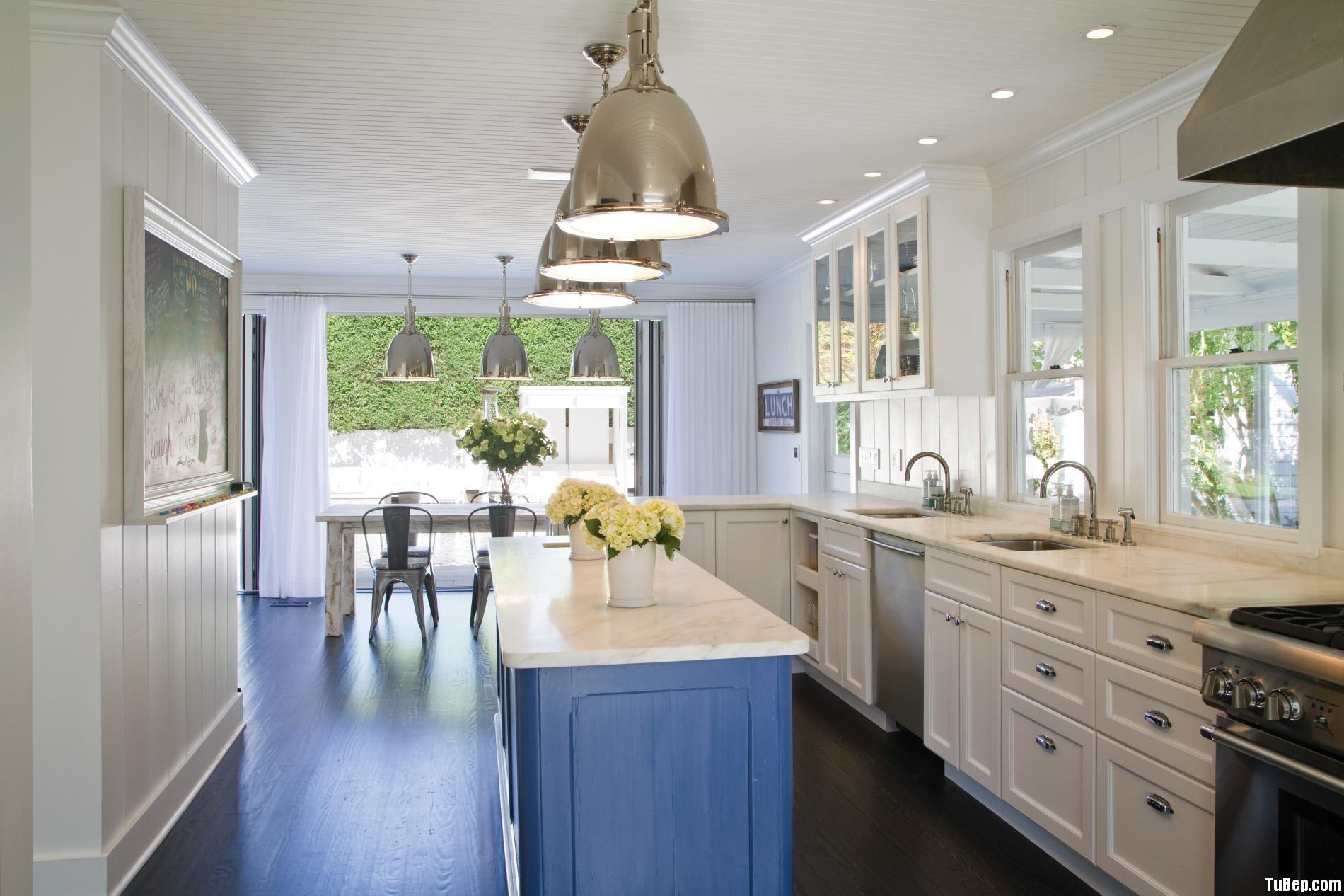 82bd2f8674i xanh.jpg Tủ bếp gỗ Sồi sơn men chữ L TVT0398