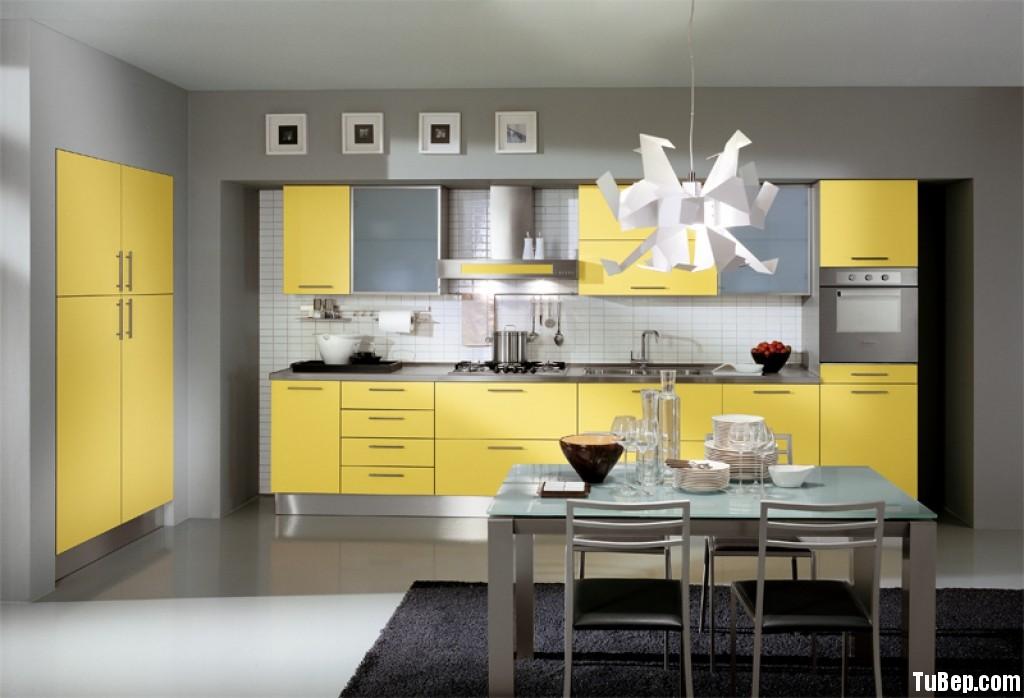 bb60bc16aavàng.jpg Tủ bếp gỗ Laminate màu vàng chữ I TVT0362