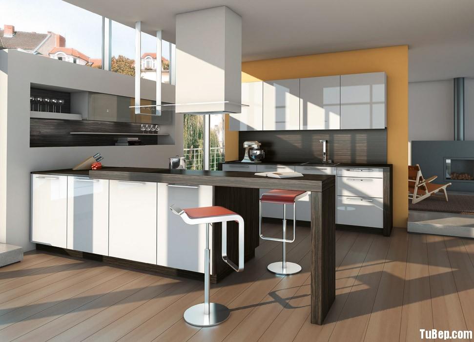 Tủ bếp Acrylic kết hợp Laminate TVT0324