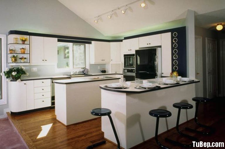 b1c9e36eca2807 6.jpg Tủ bếp gỗ tự nhiên Sồi Mỹ sơn men kết hợp bàn bar & bàn đảo – TVB417