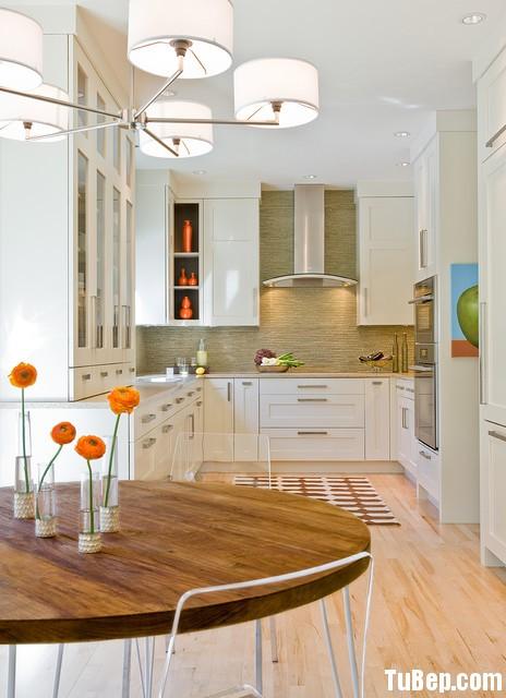 d49051b07f Tủ bếp gỗ tự nhiên sơn men trắng – TVB384