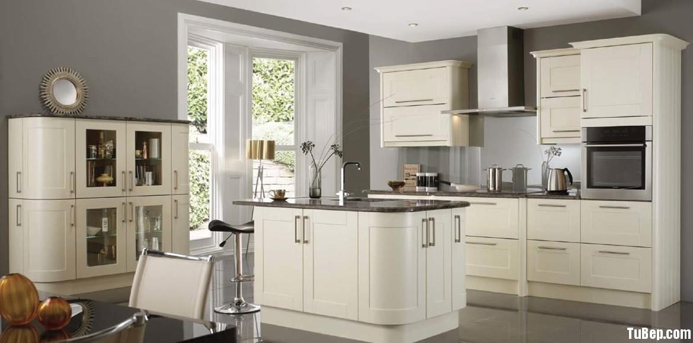 8edde9dec3 Tủ bếp gỗ xoan đào sơn men màu trắng ngà TVT0303