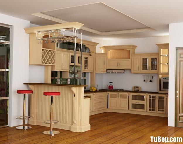 7cf82b6f650608 1.jpg Tủ bếp gỗ tự nhiên Sồi sơn men kết hợp bàn bar – TVB489