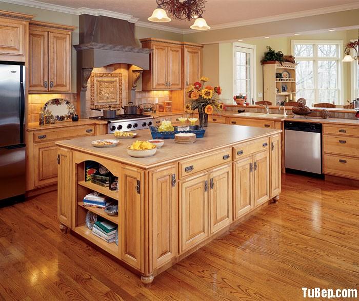 128604321c Tủ bếp gỗ Tần Bì có đảo chữ L TVT0461