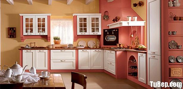 affae8aa8bMEN 1.jpg Tủ bếp gỗ Xoan đào sơn men màu trắng phối hồng TVT0490