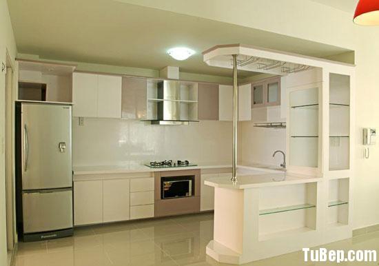 7b315744dca1.jpg Tủ bếp gỗ Laminate chữ L màu trắng phối nâu TVT0634