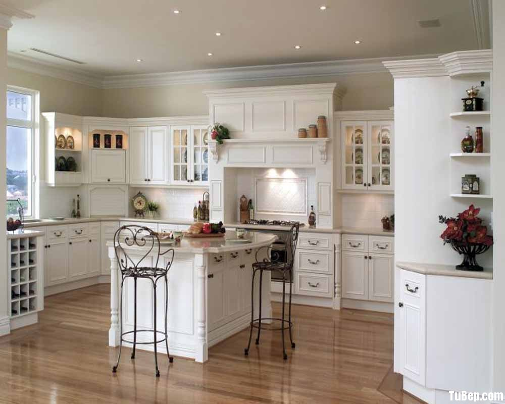 713872b625rắng.jpg Tủ bếp gỗ tự nhiên sơn men trắng có đảo TVT0496