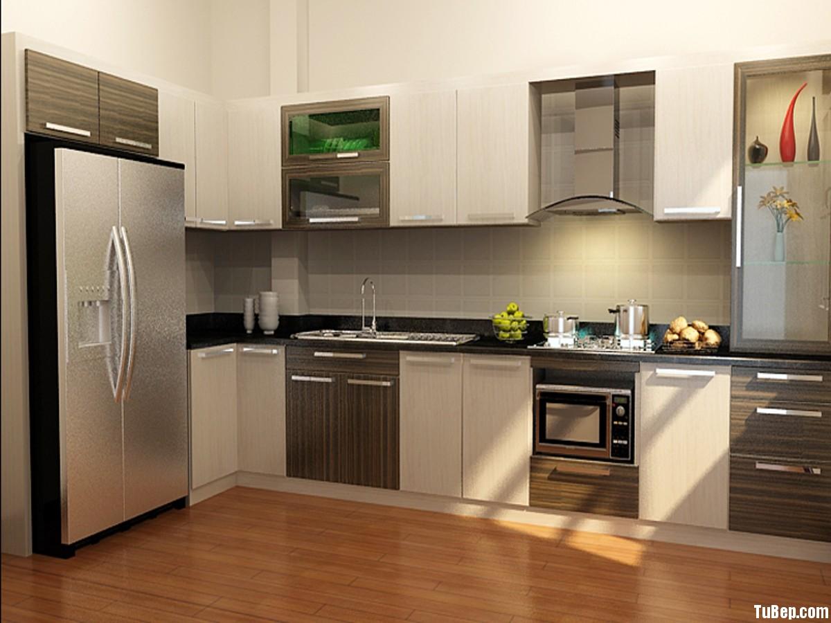 7386f9e2cfINATE2.jpg Tủ bếp gỗ Laminate màu trắng kết hợp vân gỗ sọc TVT0502