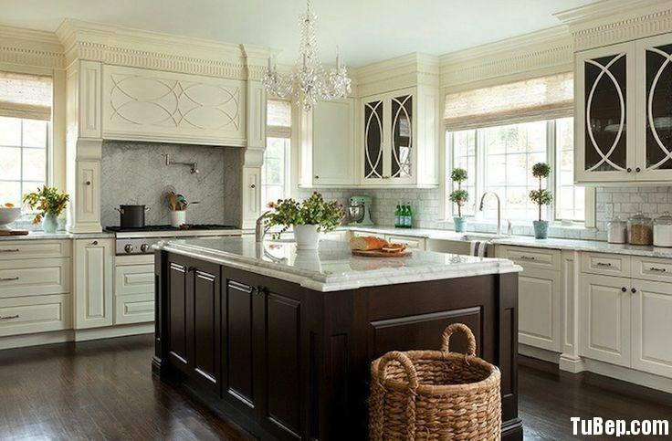 864226b762rắng.jpg Tủ bếp gỗ Sồi sơn men đen kết hợp trắng TVT0476