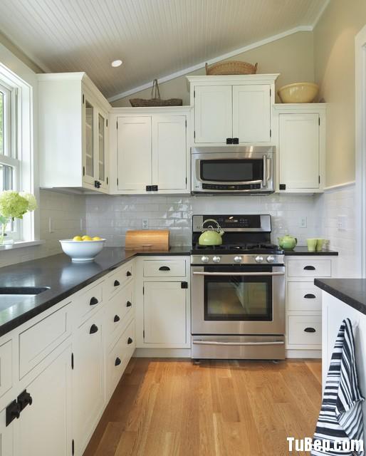 1b3b5aaed1 Tủ bếp gỗ Sồi  tự nhiên sơn men – TVB561
