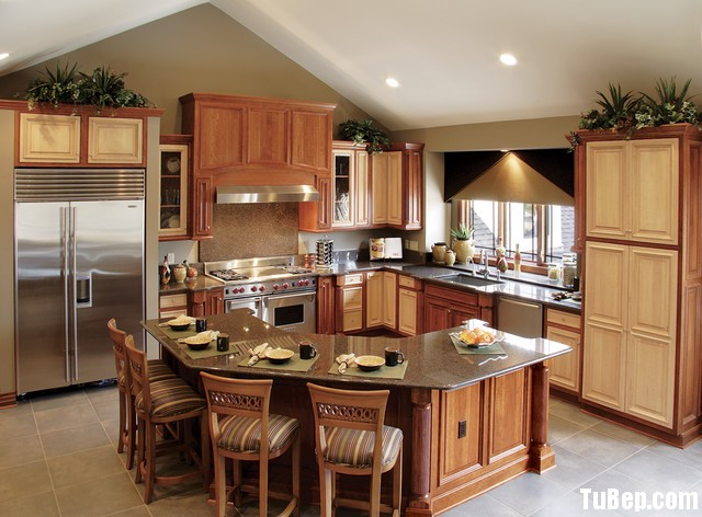 0d994279db Tủ bếp gỗ Sồi Nga – TVB584