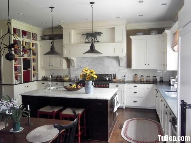 9674480a37 Tủ bếp gỗ tự nhiên sơn men trắng + bàn đảo – TVB564