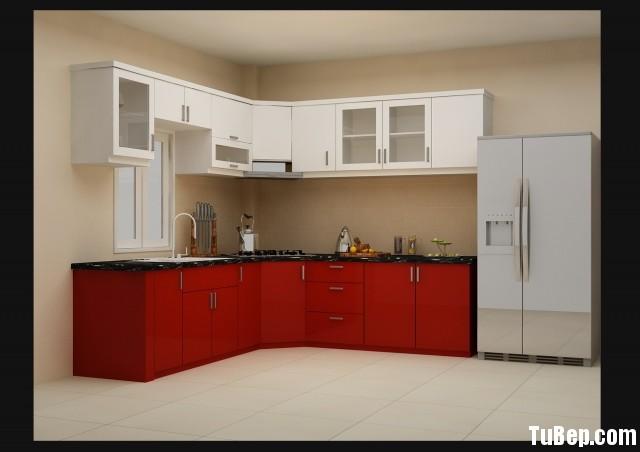 c1518d6310b6ee7a.jpg Tủ bếp gỗ Acrylic màu trắng phối đỏ chữ L TVT0786