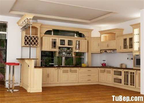 d686cc75dadinh 1.jpg Tủ bếp gỗ Sồi tự nhiên sơn men màu kem có quầy bar TVT0802