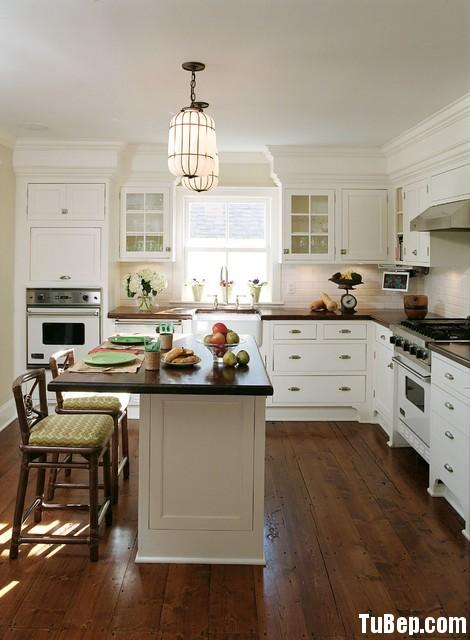 8d18dc2c16 Tủ bếp gỗ tự nhiên sơn men trắng – TVB658