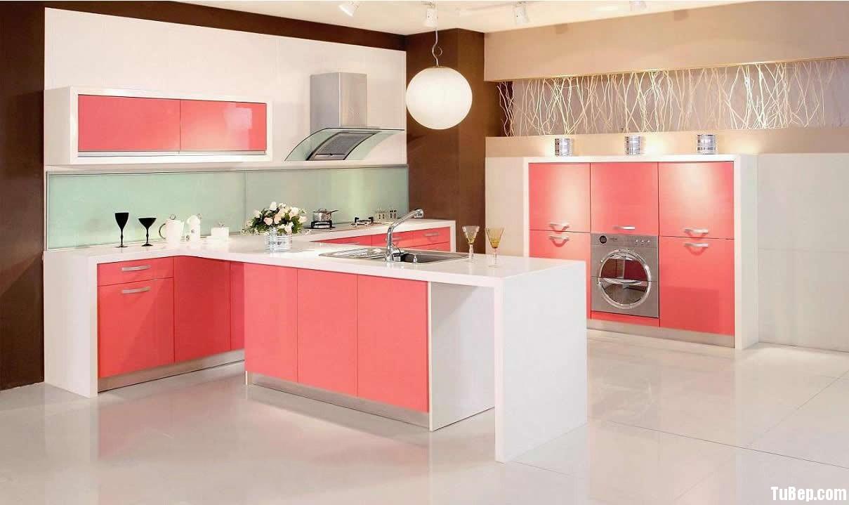 13fc0f6a86p dep1.jpg Tủ bếp gỗ Laminate màu hồng phối trắng chữ I TVT0685