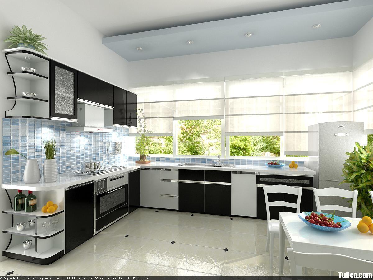84b81f2feeu au 9.jpg Tủ bếp gỗ Acrylic chữ L màu trắng phối đenTVT0720