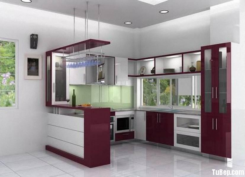 1a20055f53TVN14.jpg Tủ bếp gỗ Acrylic màu tím phối trắng chữ L có quầy bar TVT0704