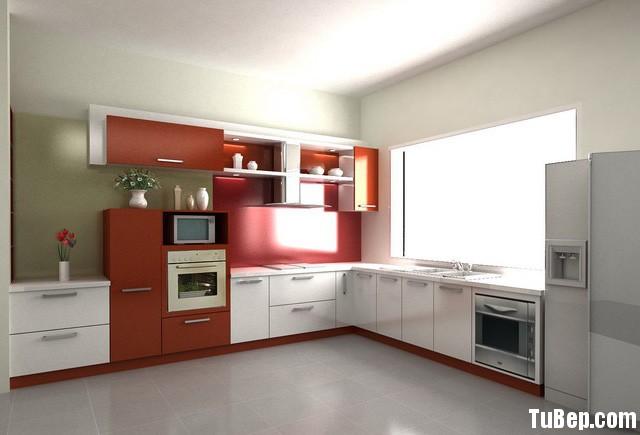 b23f849f8654bep1.jpg Tủ bếp gỗ Laminate chữ L màu trắng phối cam TVT0788