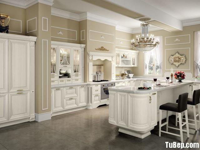 b467d1c201ets 50.jpg Tủ bếp gỗ Xoan Đào sơn men trắng chữ I có bàn đảo TVT0655