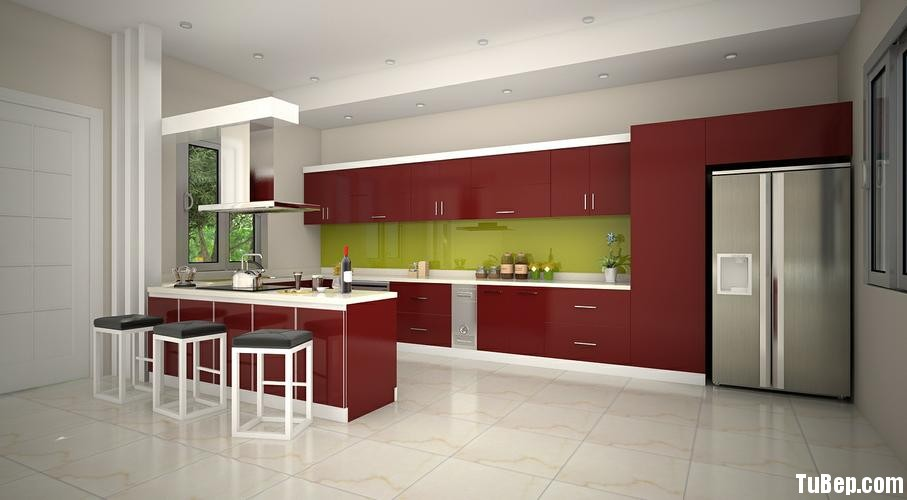 1eac80e277y bar1.jpg Tủ bếp gỗ Acrylic chữ I màu đỏ TVT0662