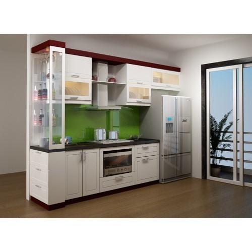 553e75bbd400x500.jpg Tủ bếp gỗ Laminate màu trắng phối đỏ chữ I TVT0775