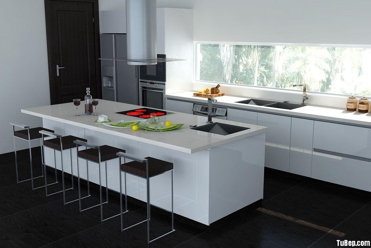 855aa9f5352 Tủ bếp Acrylic có đảo  TVB698