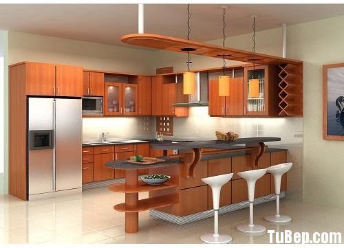76763c0305ha noi.jpg Tủ bếp Laminate màu vân gỗ chữ L có quầy bar gắn liền TVT0799