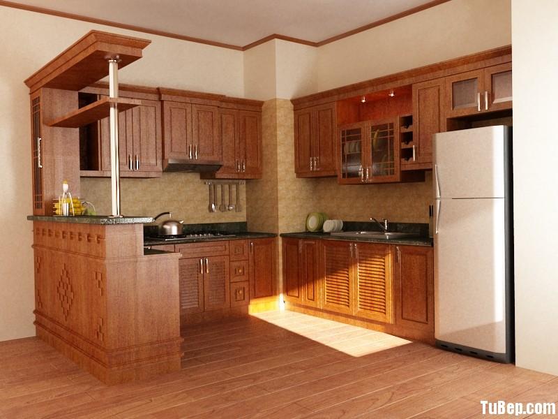 c447fb721f10081.jpg Tủ bếp gỗ Xoan đào tự nhiên chữ L có quầy bar TVT0696