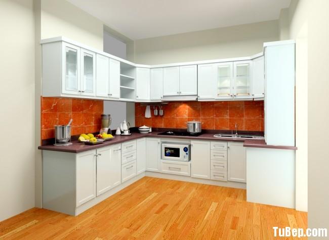 207e32decea8e0f6.jpg Tủ bếp gỗ Sồi sơn men trắng chữ U TVT0727
