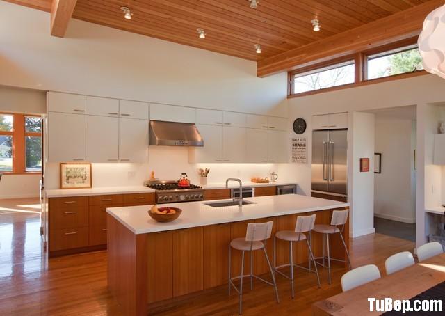 72bdd06aa117.jpg Tủ bếp gỗ Laminate màu trắng phối vân gỗ chữ I có bàn đảo – TVB0878
