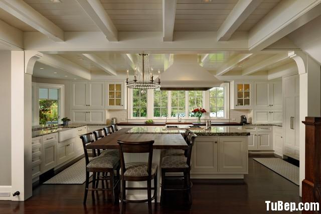 a34162781481.jpg Tủ bếp gỗ Sồi tự nhiên chữ L sơn men trắng có đảo TVT0423