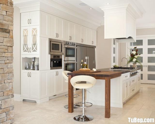 492934400b410.jpg Tủ bếp gỗ tự nhiên sơn men trắng chữ I – TVB0835