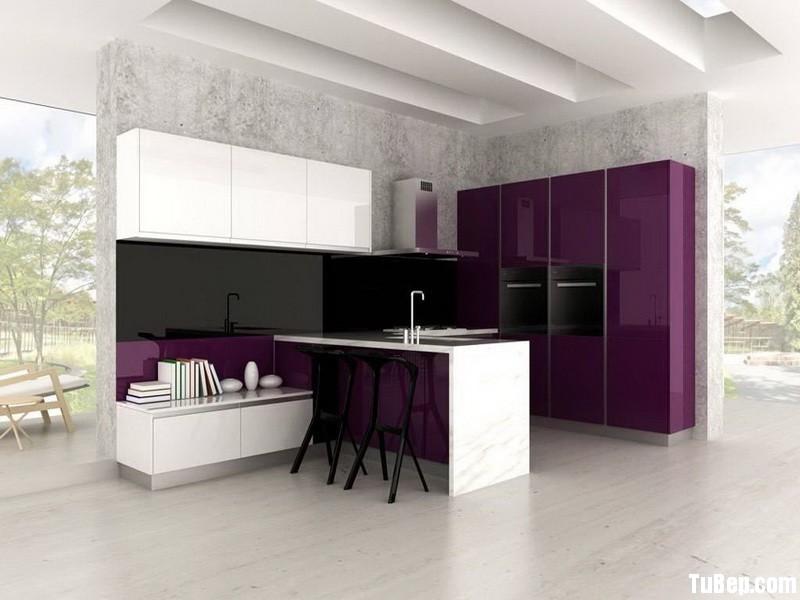 000f7e12e1 Tủ bếp gỗ Acrylic có đảo – TVB0906