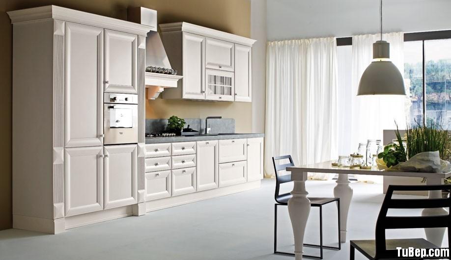 201759bec3men 1.jpg Tủ bếp gỗ Sồi sơn men trắng chữ I – TVB0907