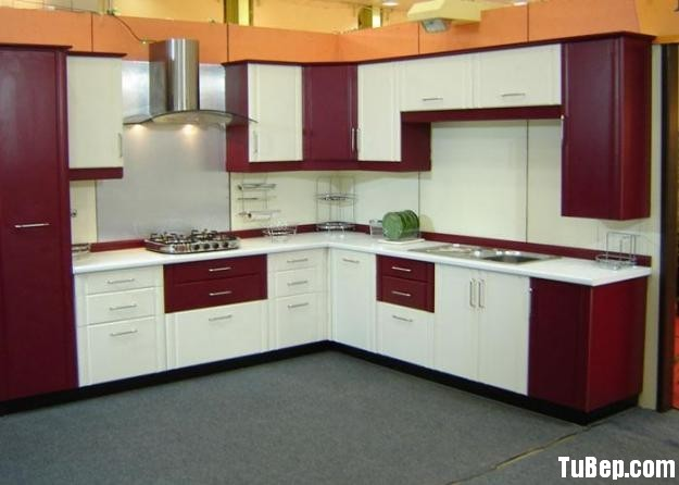 286503443a Tủ bếp gỗ Xoan Đào sơn men – TVB0850