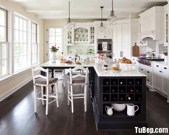 388749dd8cFHDF.jpg Tủ bếp gỗ Xoan đào tự nhiên sơn men trắng phối đen có đảo TVT0928