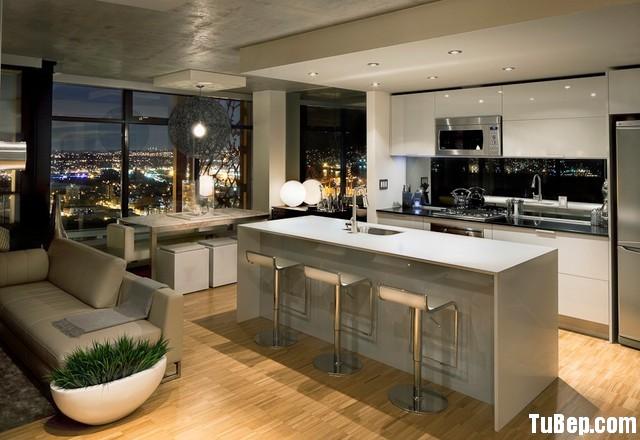86fd1d215b32.jpg Tủ bếp gỗ Acrylic màu trắng hình chữ I có bàn đảo – TVB0952