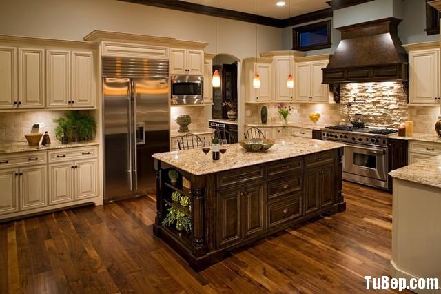 0b684d0df11351.jpg1 Tủ bếp gỗ tự nhiên hình chữ U sơn men trắng có đảo TVT0413