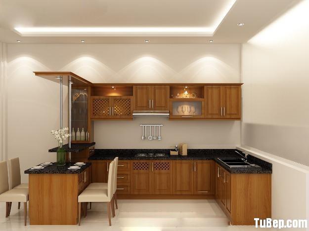 d9b9144719jpg 1.jpg Tủ bếp gỗ Xoan Đào chữ L có quầy bar gắn liền – TVB0917