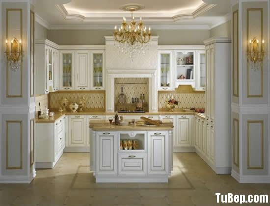 5e39a76808gia 6.jpg Tủ bếp gỗ Sồi Mỹ sơn men trắng chữ U có bàn đảo TVT0830
