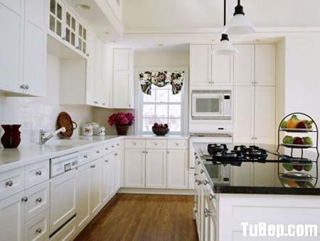 e657312dec Tủ bếp gỗ Xoan đào sơn men trắng, chữ L  TVB 1101