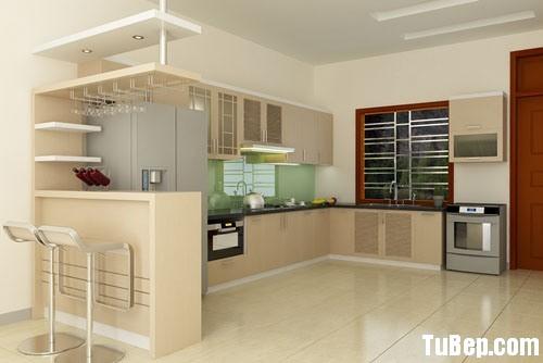 acdb9ef30c153157.jpg Tủ bếp gỗ Laminate chữ L màu trắng phối kem  TVB1079